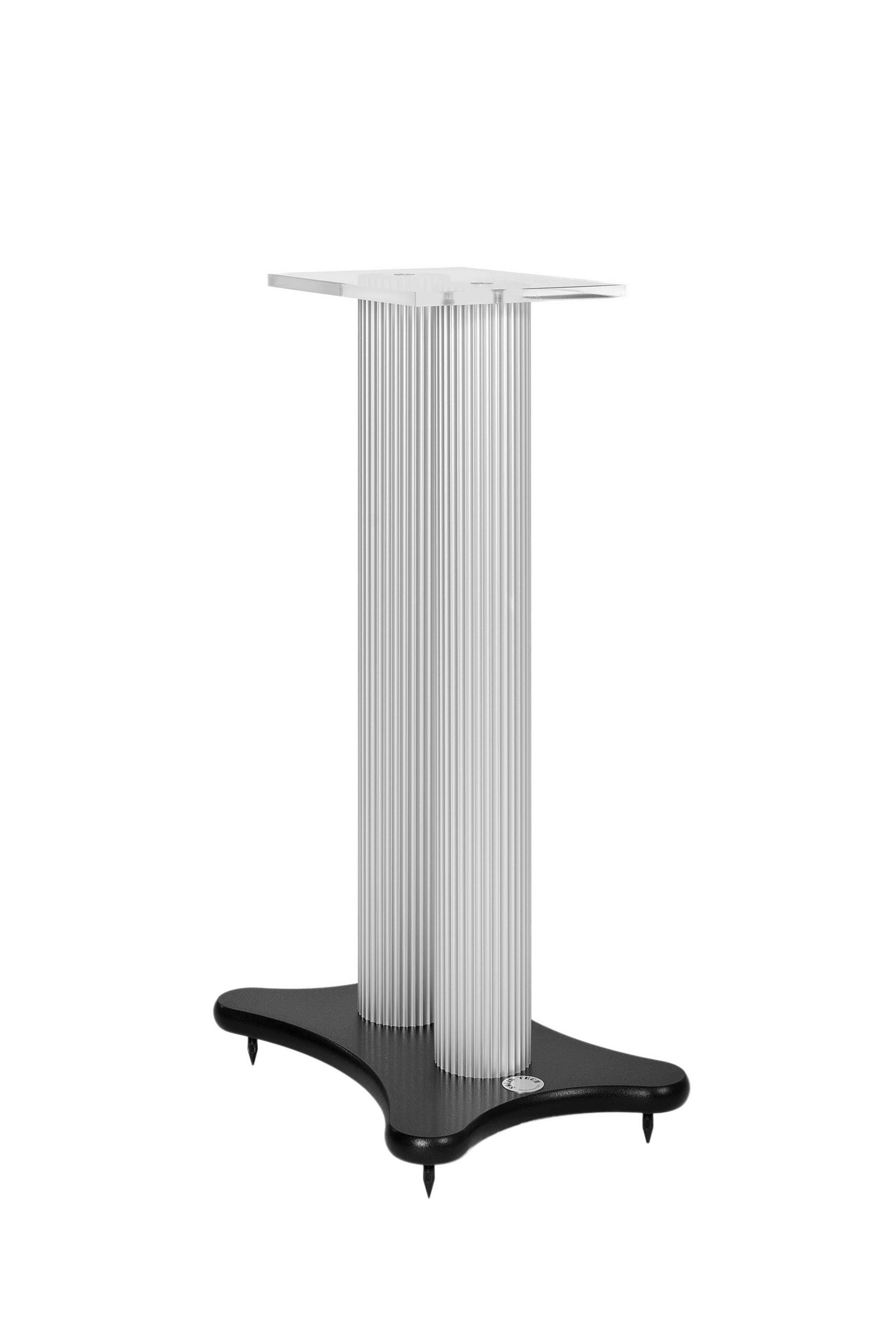 Speakerstand black fot and white pillars Image