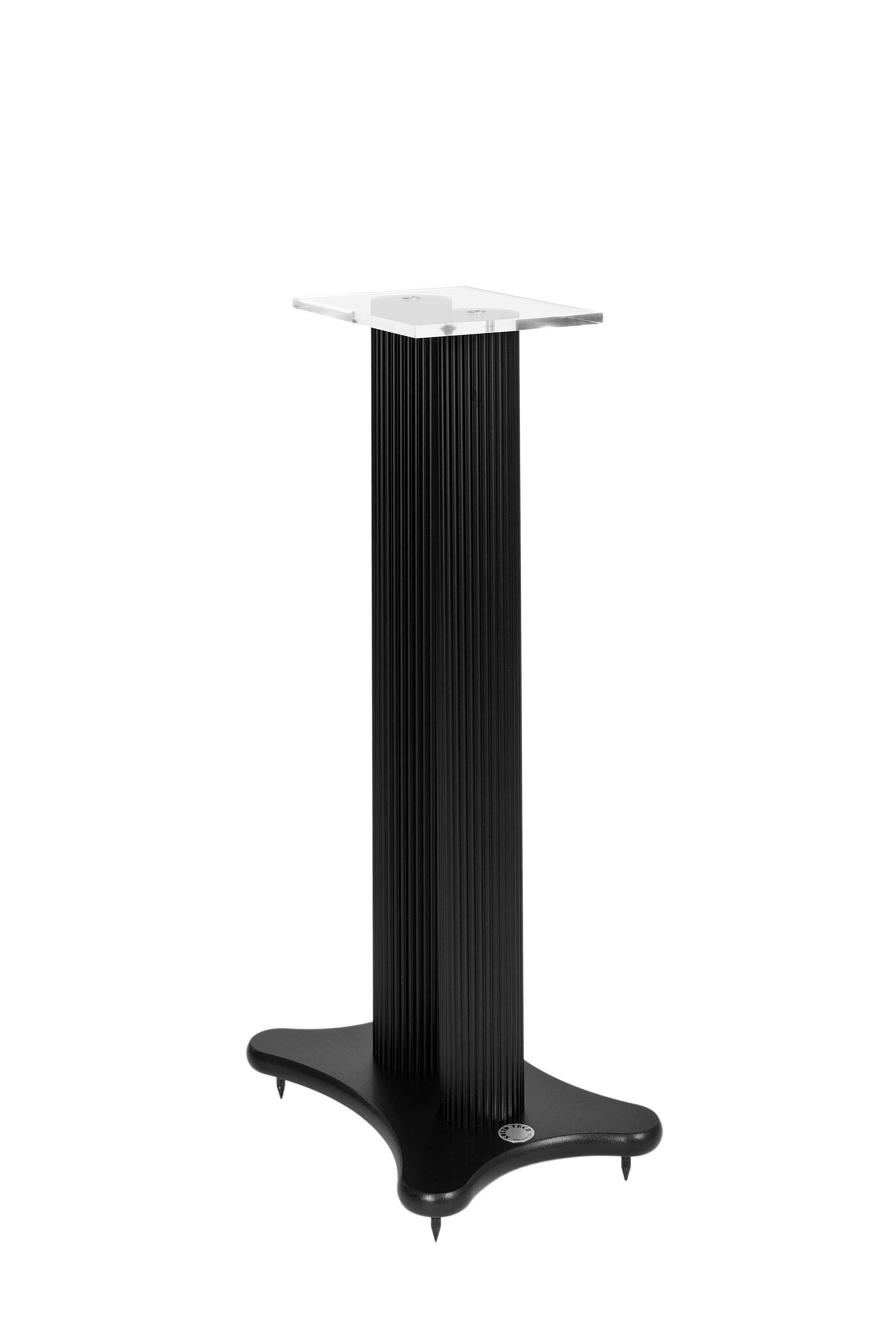 Speaker stand black foot and black pillars Image