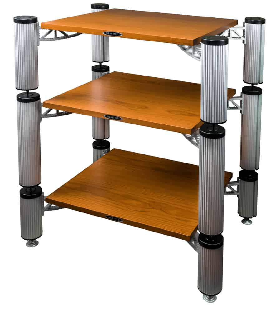 Hybrid Rack with shelfs in Cherry Image