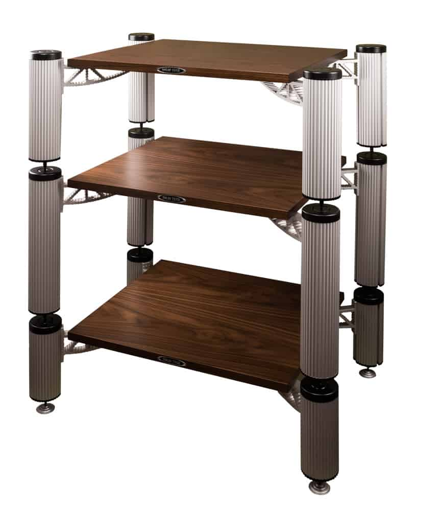 Hybrid Rack with shelfs walnut Image