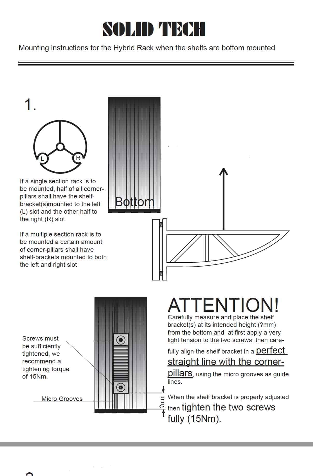 Hybrid Bottom Mounted Shelves Assembly Instructions concrete shelves Image