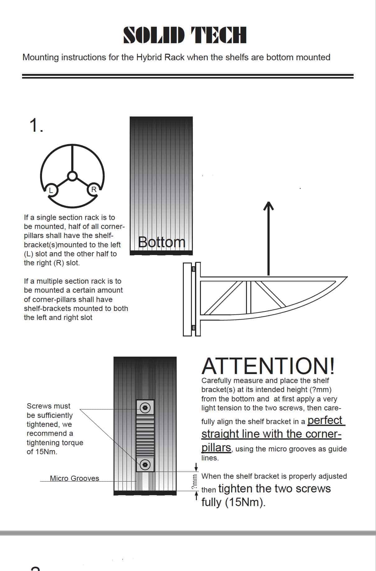 Hybrid Bottom Mounted Shelves Assembly Instructions concrete shelves Image