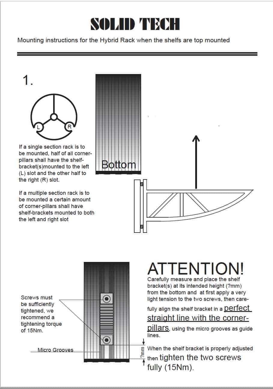 Hybrid Isolation Shelf Assembly Instructions Image