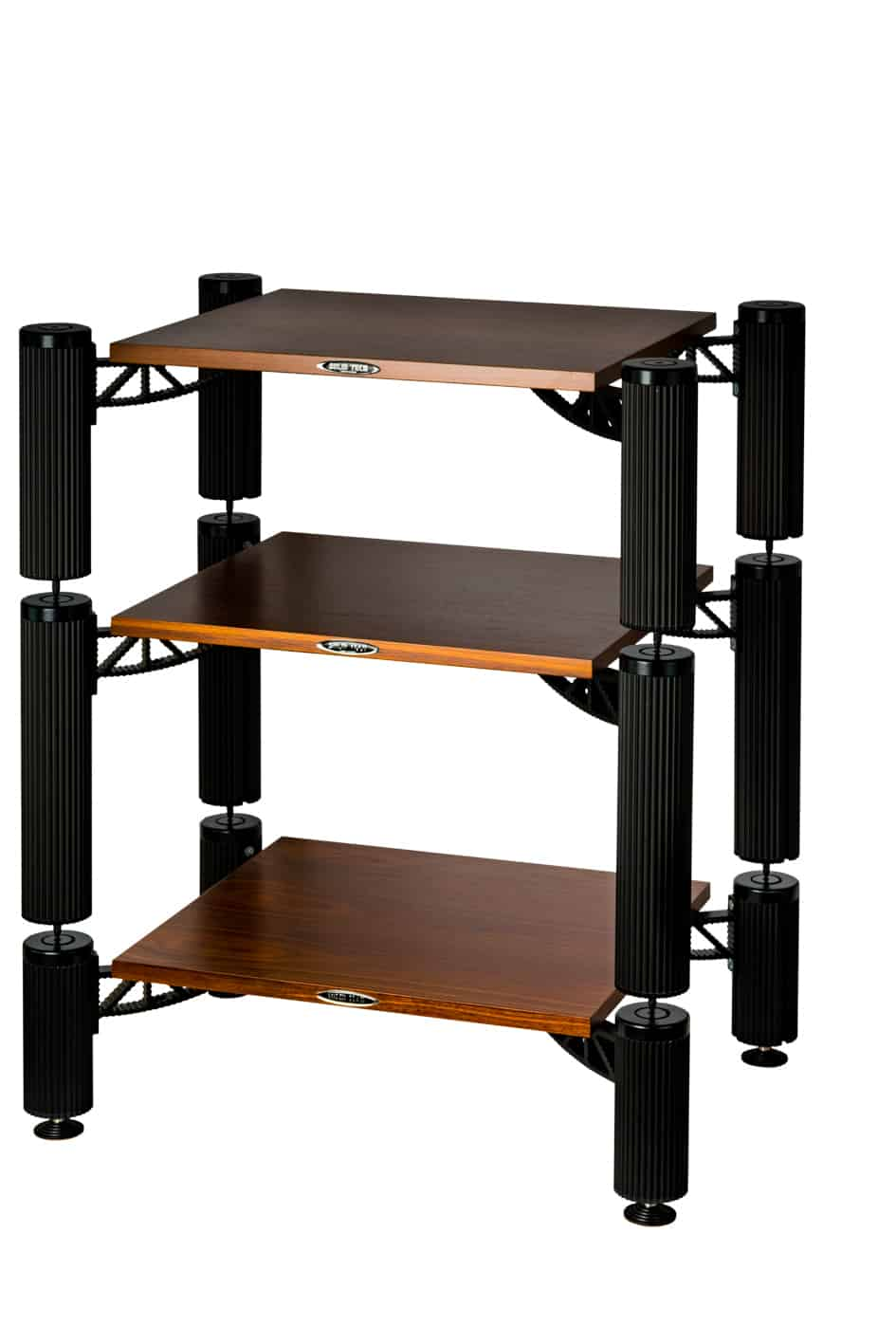 Hybrid Rack with shelves in walnut Image