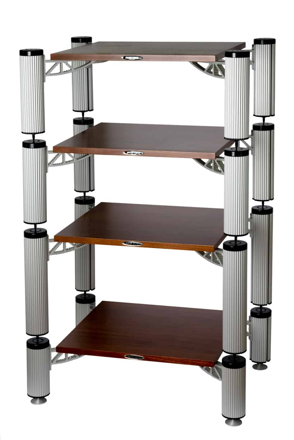 Hybrid Rack With Shelves in Walnut Image