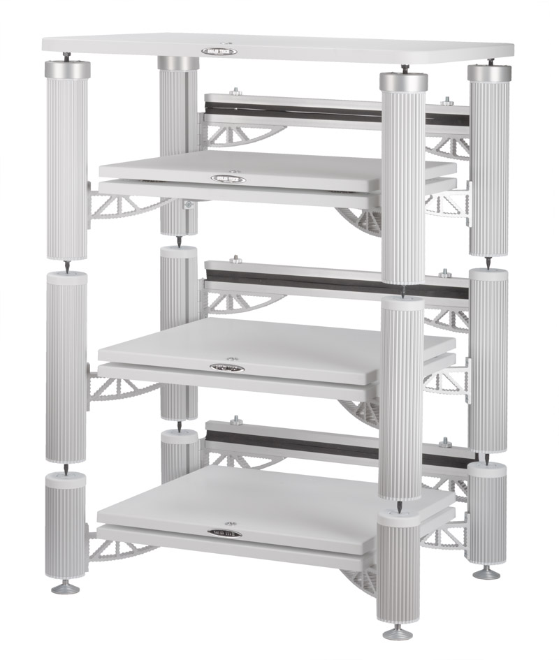 Hybrid 3 Shelf-kit design with isolation shelves and top shelf in white Image