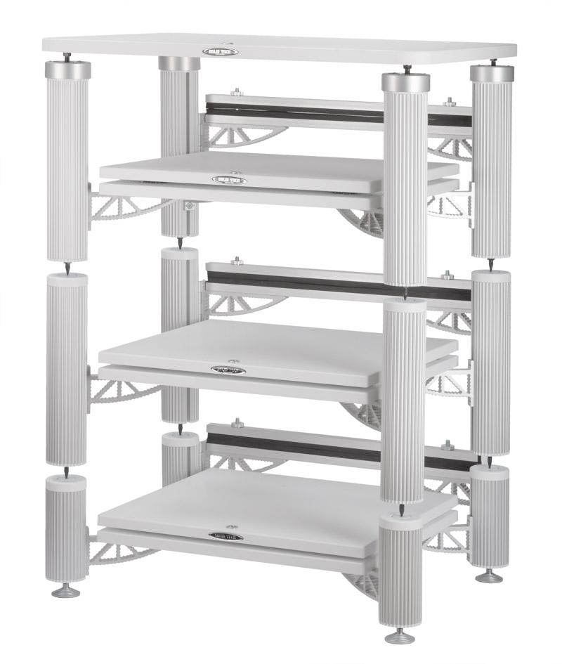Hybrid 3 Shelf-kit design with isolation shelves and top shelf in white Image