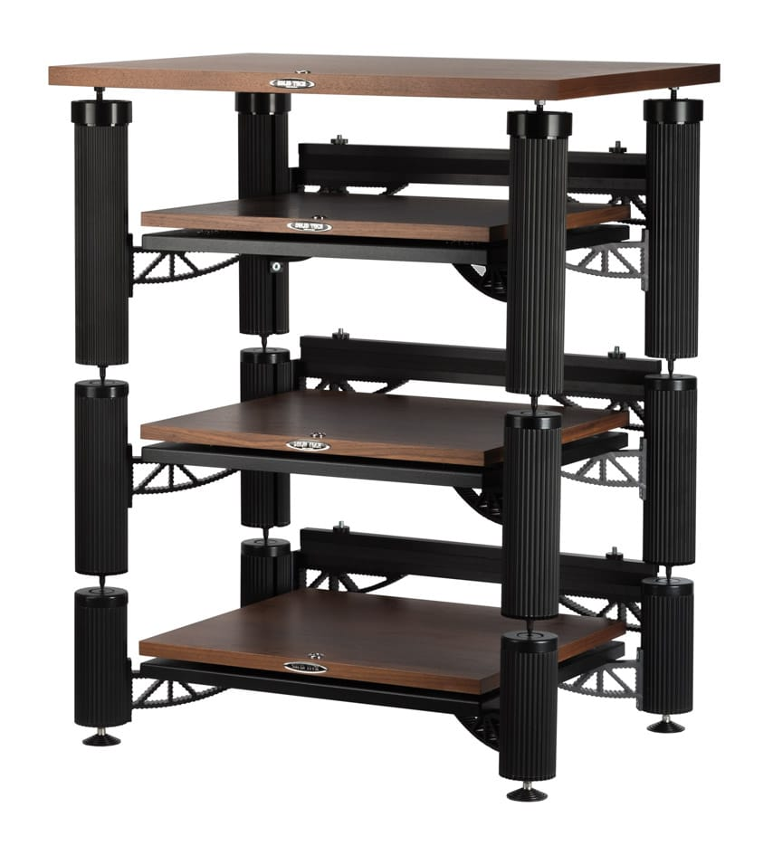 3 shelf-kit design with top shelf, isolators, Isolation shelves, top shelf, cable carriers and feet Image